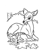 Bambi da colorare 115