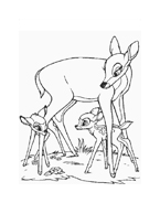 Bambi da colorare 122