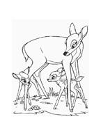 Bambi da colorare 122