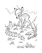 Bambi da colorare 130