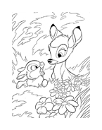 Bambi da colorare 142