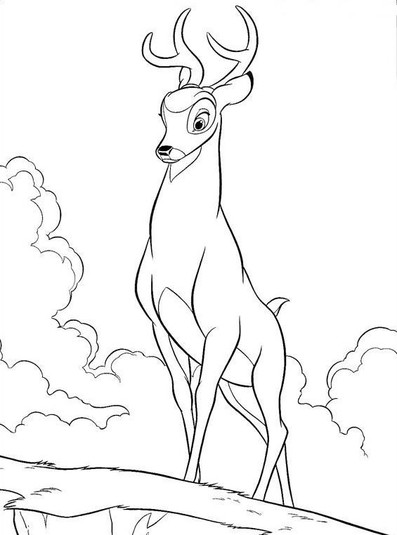 Bambi da colorare 143
