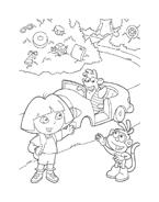 Dora l'esploratrice da colorare 92