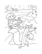Dora l'esploratrice da colorare 93