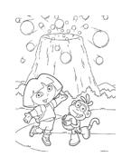 Dora l'esploratrice da colorare 96