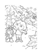 Dora l'esploratrice da colorare 253