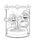 Mario bros da colorare 6