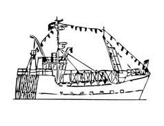 Nave e barca da colorare 124