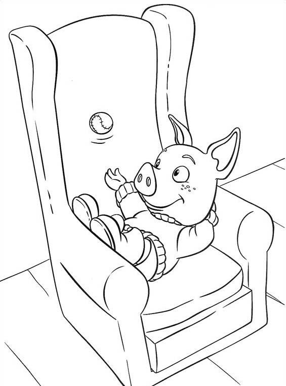 Piggly wiggly da colorare 3