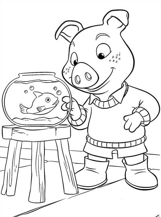 Piggly wiggly da colorare 6