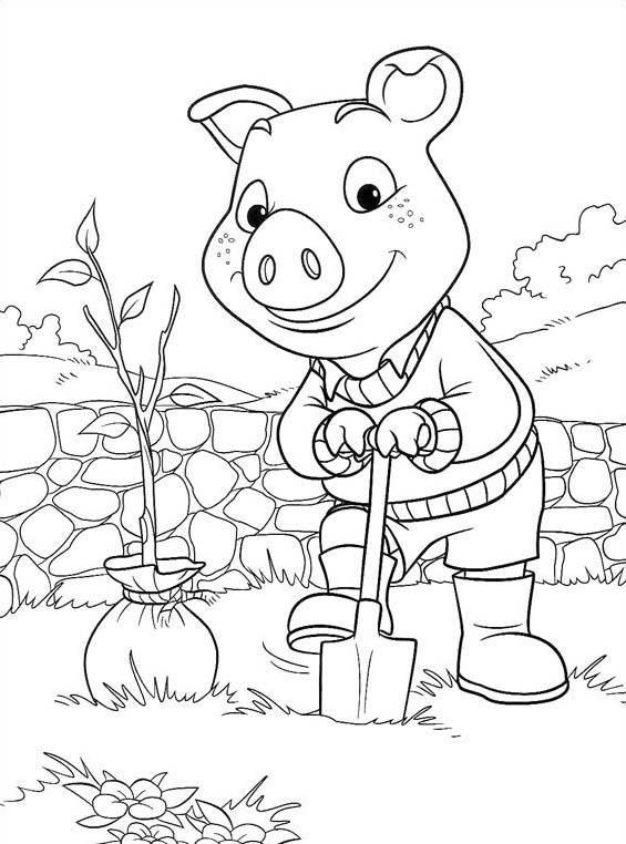 Piggly wiggly da colorare 34