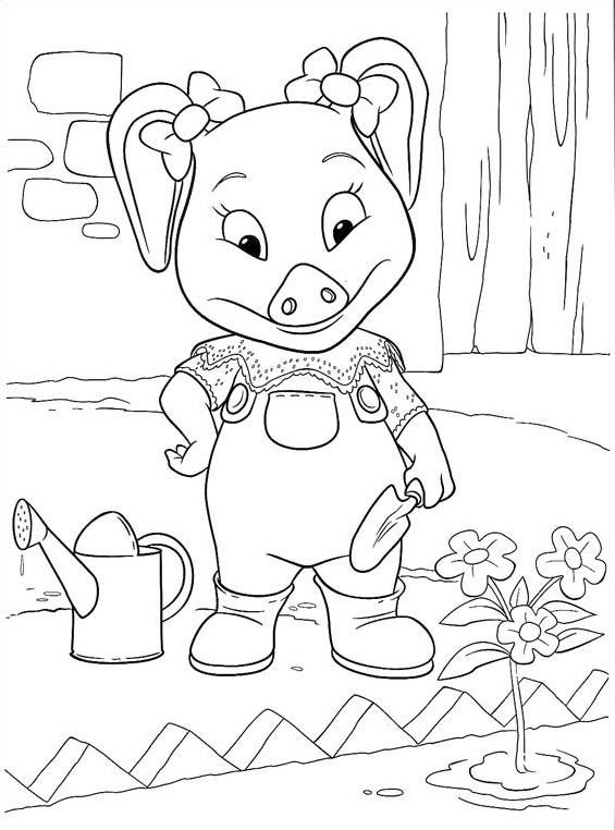 Piggly wiggly da colorare 36