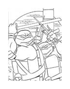 Tartarughe ninja da colorare 118