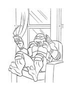 Tartarughe ninja da colorare 123