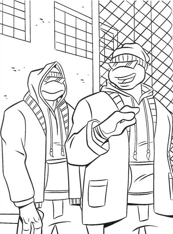 Tartarughe ninja da colorare 143