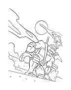 Tartarughe ninja da colorare 145