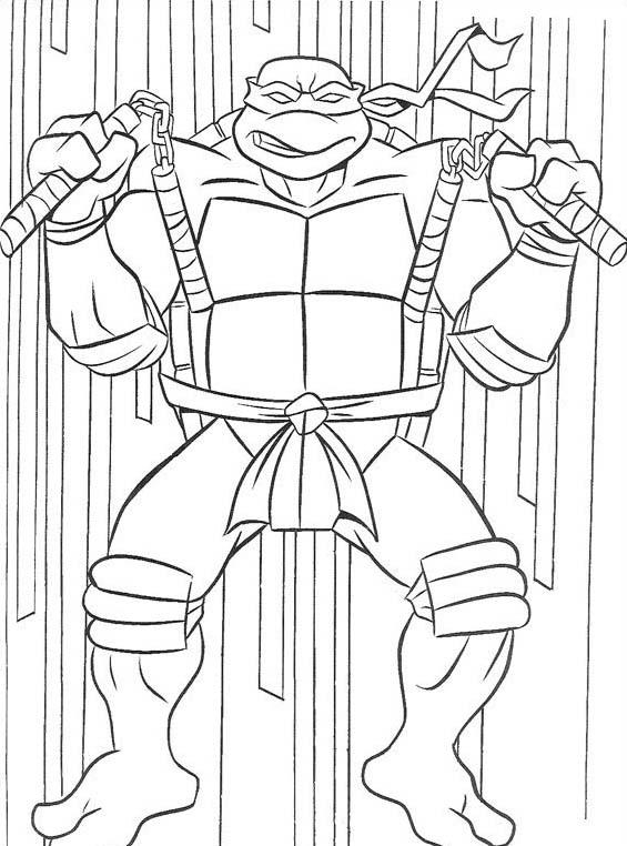 Tartarughe ninja da colorare 155