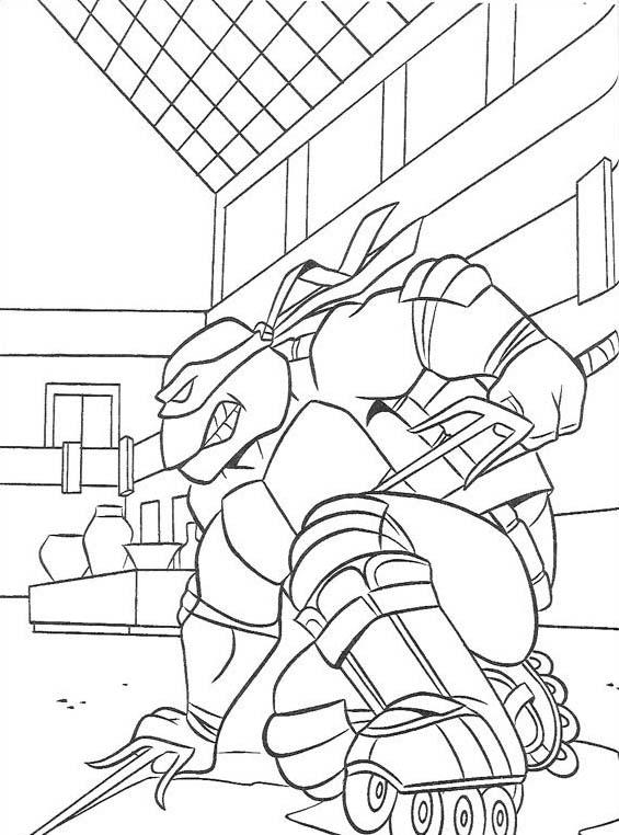 Tartarughe ninja da colorare 156