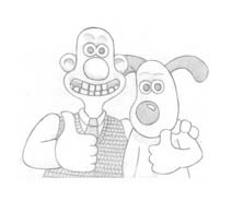 Wallace e gromit da colorare 33