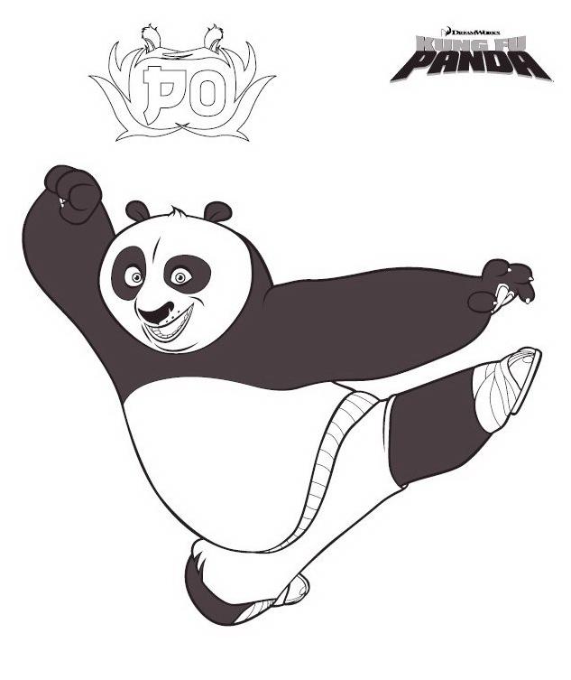 Kung fu panda da colorare 5