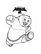 Kung fu panda da colorare 10