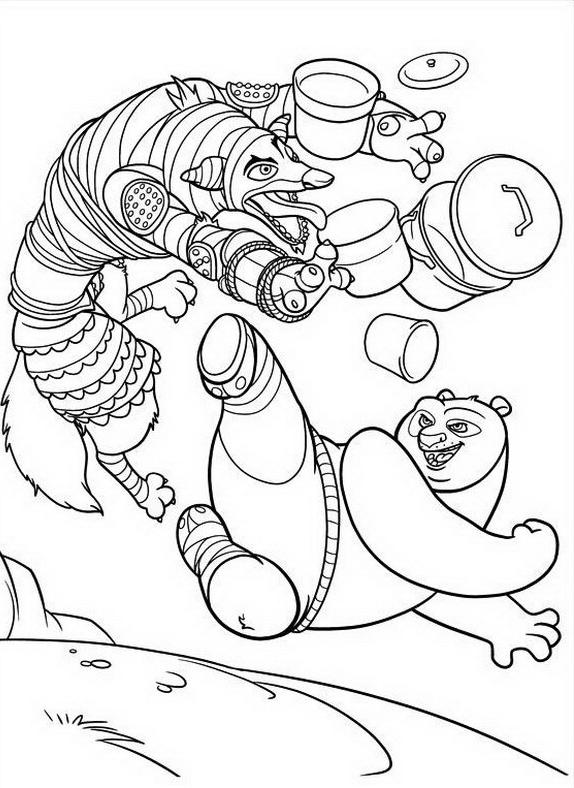Kung fu panda da colorare 11