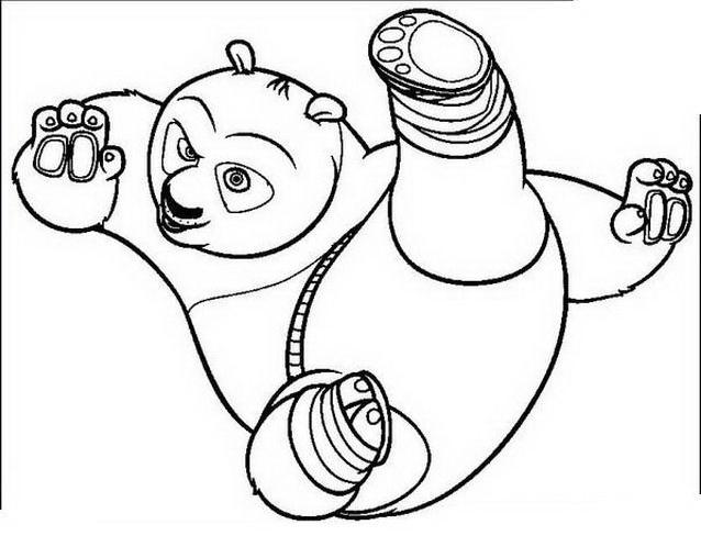 Kung fu panda da colorare 15