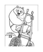 Kung fu panda da colorare 16
