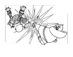 Kung fu panda da colorare 17