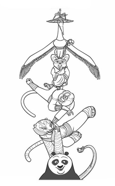 Kung fu panda da colorare 27