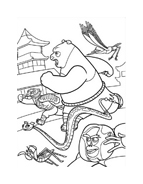 Kung fu panda da colorare 28
