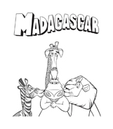 Madagascar da colorare 25
