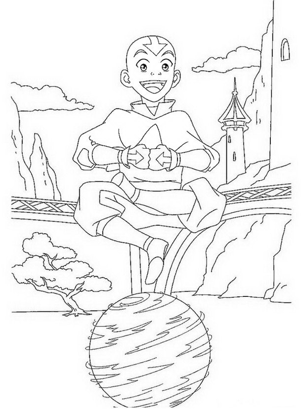 Aang da colorare 4