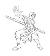 Avatar – La leggenda di Aang da colorare 6