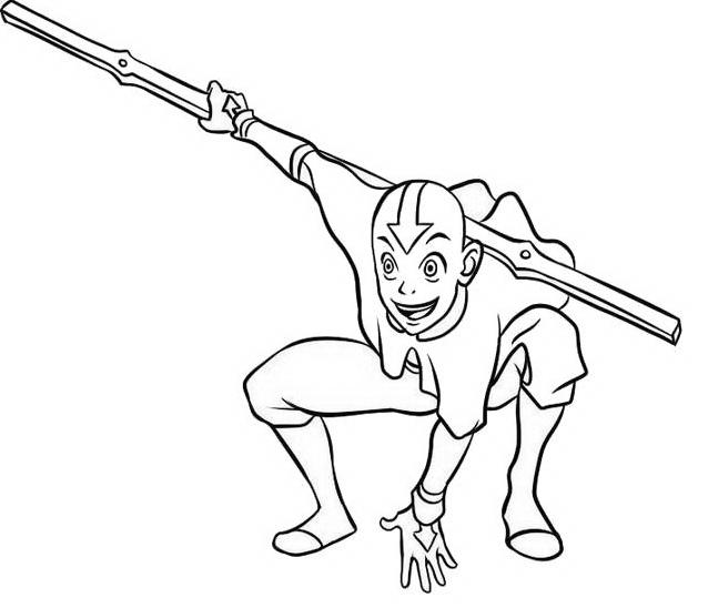 Aang da colorare 8