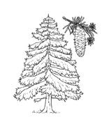 Disegno Di Abete Da Colorare Immagini Di Natale