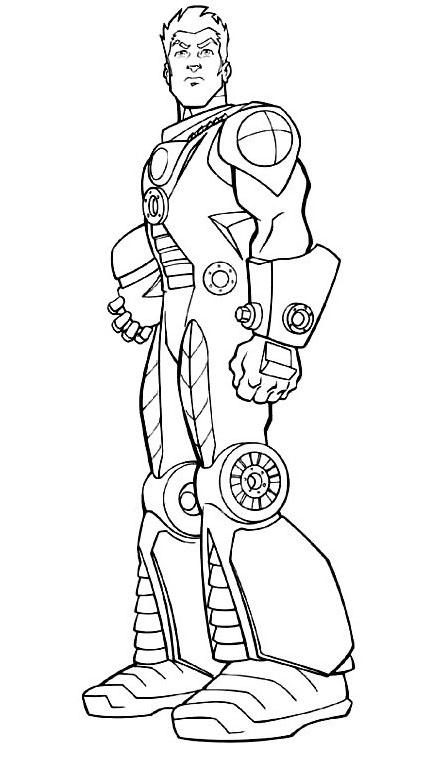 Actionman da colorare 6