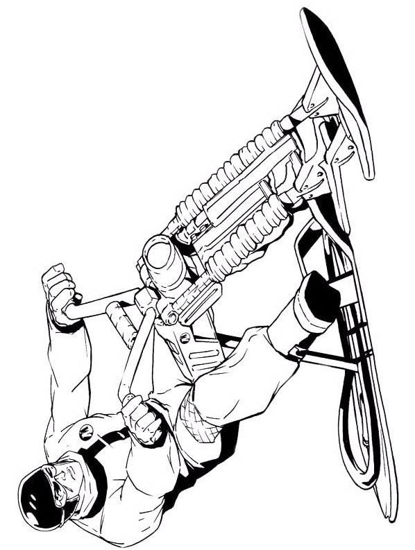 Actionman da colorare 12