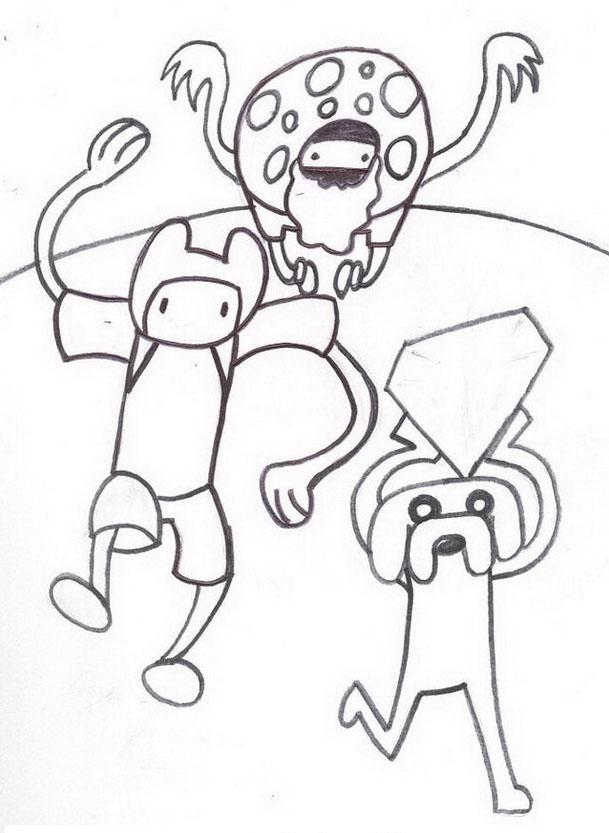 Adventure time da colorare 4