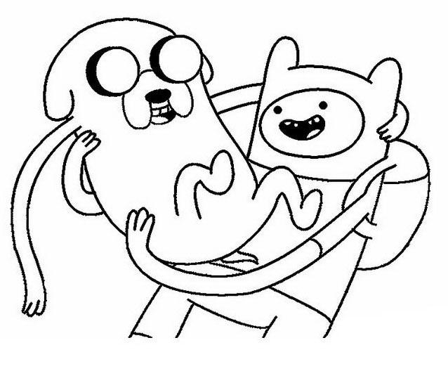 Adventure time da colorare 6