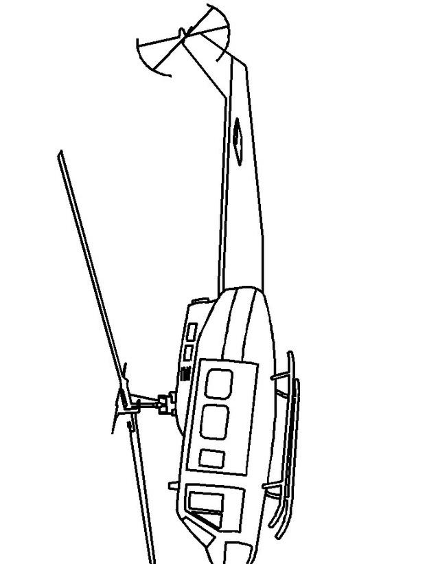 Elicottero da colorare 2