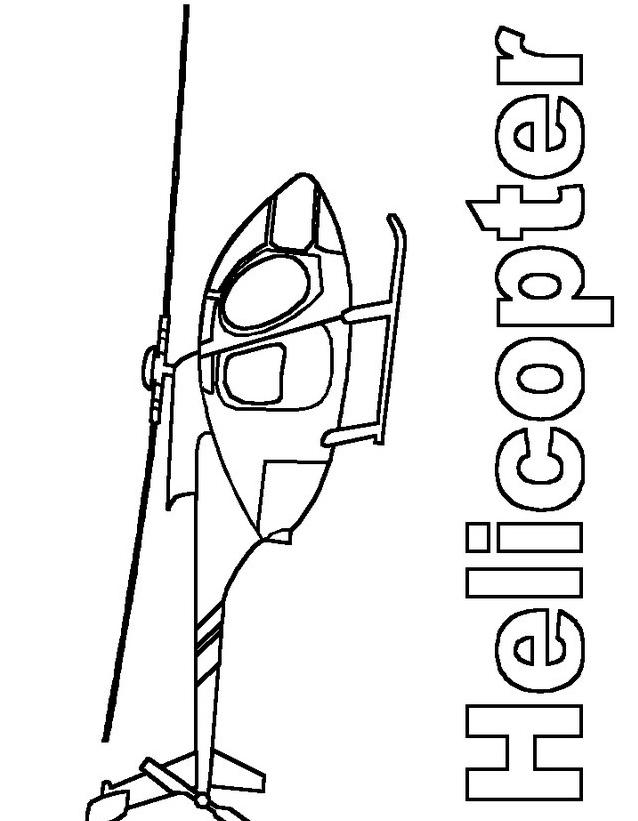 Elicottero da colorare 7