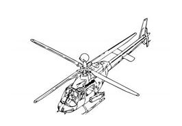 Elicottero da colorare 12