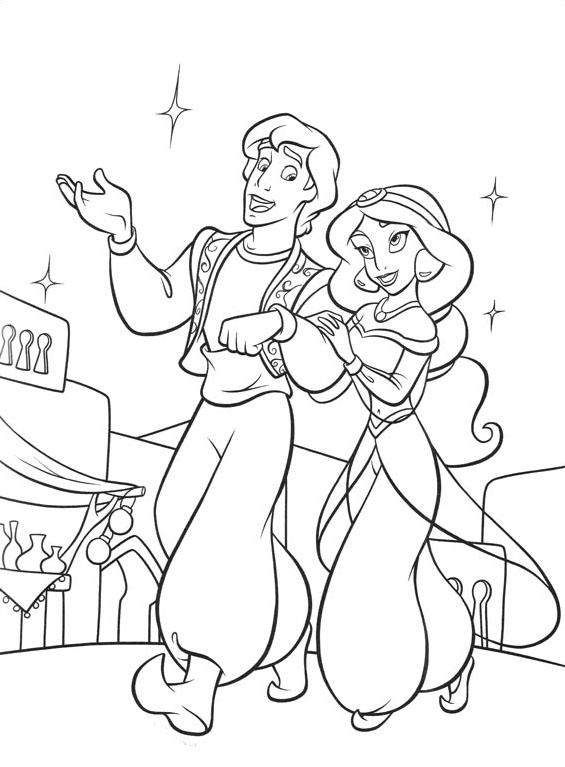 Aladdin da colorare