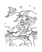 Aladdin da colorare 13