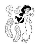 Aladdin da colorare 16