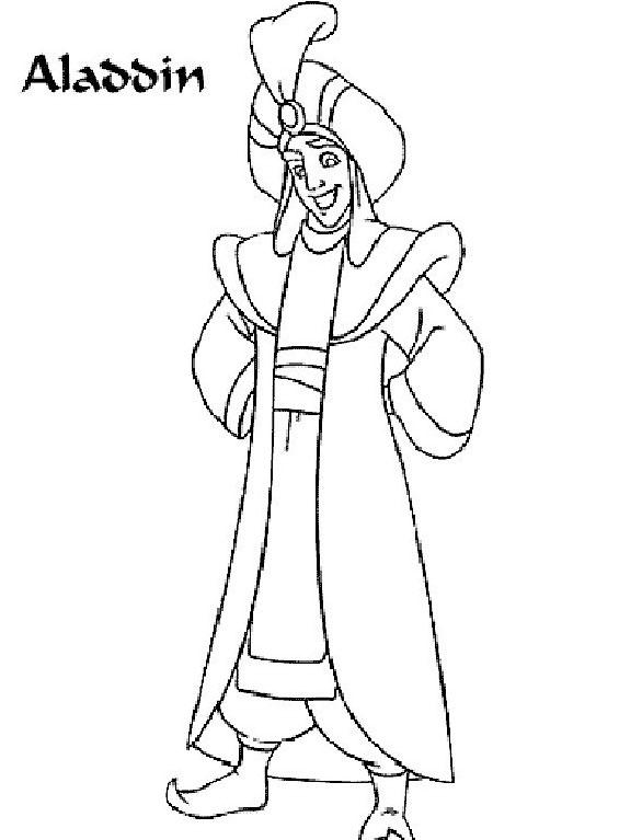 Aladdin da colorare 20