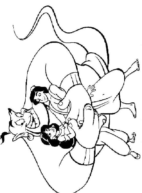 Aladdin da colorare 23