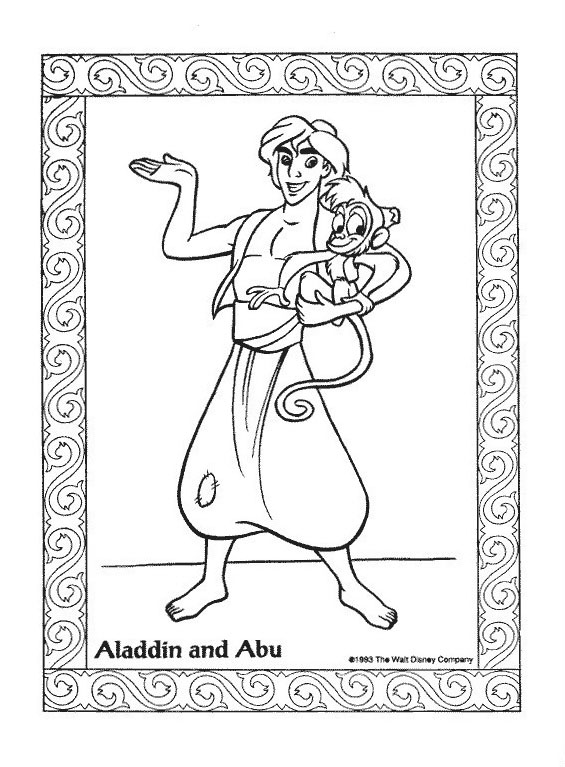 Aladdin da colorare 26