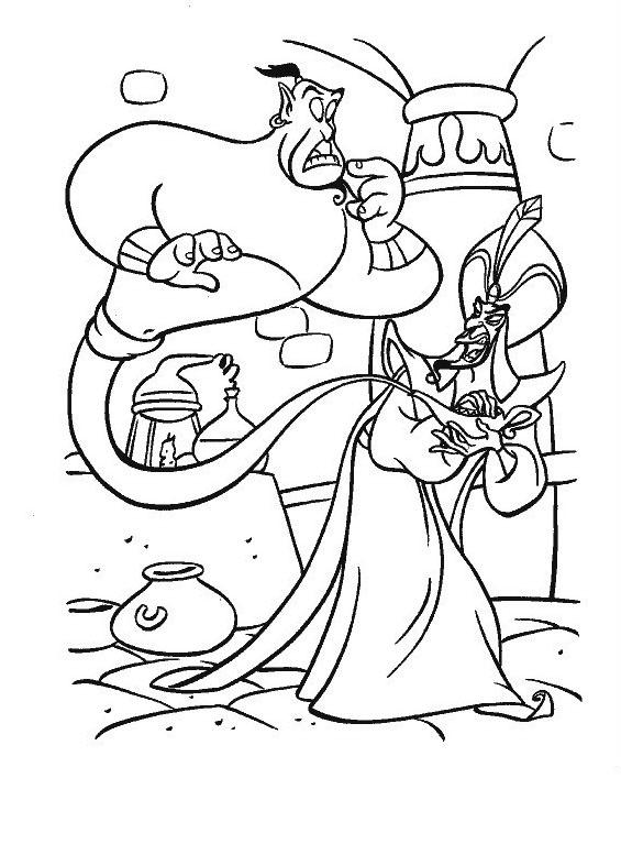 Aladdin da colorare 28